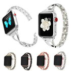 Stainless Steel Wrist Bling Rhinestone Band For Apple Watch Series 3 2 1 38 42MM image