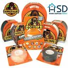Gorilla Tape Tough Strong Clear, White or Black Durable Premium Adhesive Range