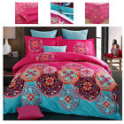 Red Rose Flower Pink Duvet Covers King Queen Full Bedding Sets With Pillow Shams image