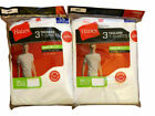 Hanes Men's White T-Shirts Crew Neck T Undershirts Tee 6 Pack M-3XL