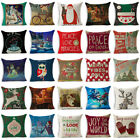 "18""Xmas Christmas Pillow Case Cotton Linen Throw Cushion Cover Home Decor  image"