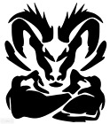 Dodge Ram Head Decal - Vinyl Decal window sticker Mopar $14.99 USD on eBay