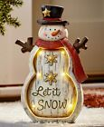 Lighted Christmas Holiday Statues Snowman Santa Penguin Or Angel Home Decor