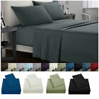 King Size Bed Sheet Set Soft Comfort Microfiber 4 Piece Deep Pocket Flat Fitted image