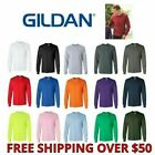 Gildan Men's Long Sleeve Ultra Cotton T-Shirt 2400 S-5XL Choose Color/Size Crew image