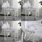 Clair de Lune Over The Moon White Wicker Moses Basket