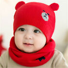 Infants Autumn Winter Woolen Yarn Knitted Cap Baby Girls Cute Bear Soft Warm Hat