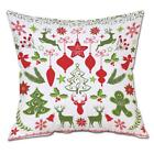 Cotton Plush Pillow Cover For Christmas Printed Square Cushi