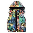 Boys Jacket White Duck Down Coats Graffiti Vests Thickening Jackets Kids Clothes