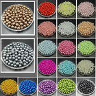 50pcs 10mm DIY Acrylic Round Pearl Spacer Loose Beads Jewelry Making beaded image