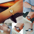 Fashion Women Quartz Analog Wrist Small Dial Thin Strap Business Watches CA image