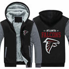 Hot New Thicken Hoodie Team Atlanta Falcons Warm Sweatshirt Lacer Zipper Jacket on eBay