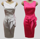 New KAREN MILLEN Satin BNWT Evening Cocktail Party Ladies Pencil Wiggle Dress