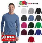 Fruit Of The Loom Long Sleeve T-Shirt HD Cotton Sofspun Colo
