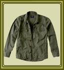 NWT Abercrombie & Fitch Men's Light Weight Military Shirt Jacket Olive M / XL
