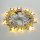 10 LED Christmas 1.8m String Light Bell Elk Snowman Candle Lamp Xmas Party Decor