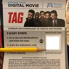 Digital Codes From Blu-ray Movies, Message Delivery, Code Only, No Discs/Case -