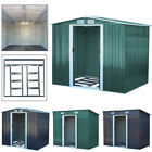 10x8, 8x8, 6x8ft Outdoor Steel Tool Sheds with Floor Frame Foundation for Garden