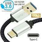 USB 3.0 TYPE C CABLE 3.1 SUPERSPEED CORD for GALAXY PIXEL LG ONEPLUS HTC HUAWEI