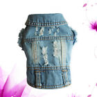 1PC Dog Jacket Cool Cowboy Style Denim Coat Dog Clothes for Small Dogs Chihuahua