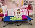 Kids Cot Portable Toddler Bed Foldable w/ Fitted Sheet Camping Sleepover Naptime