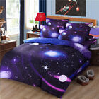 3D Printed Twin Queen Size Bed Set Quilt Duvet Cover Galaxy Sky Cosmos Night