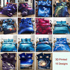 3D Printed Twin Queen Size Bed Set Quilt Duvet Cover Galaxy Sky Cosmos Night image
