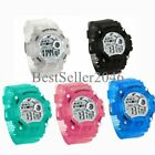 Kids Boys Girls LED Sports Digital Electronic Alarm Wrist Watch Multifunction image