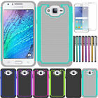 For Samsung Galaxy J7 Neo Shockproof Armor Rugged Hybrid Hard Rubber Phone Case