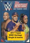 2017 Topps Heritage WWE Singles & Inserts