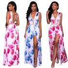 Sheer Chiffon Women Shorts Romper with Maxi Skirt Front Slit Sleeveless Jumpsuit