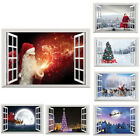 Christmas Tree Santa Reindeer Removable 3d Window Wall Stickers Party Shop Decor