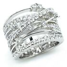Infinity Women 925 Silver Rings White Sapphire Jewelry Wedding Rings Size 6-10
