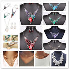 Jewelry Sets Statement Necklace And Earring Set Crystal Jewelry Fashion Leaves