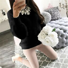 Damen Fleece Hoodies Pullover Winter Sweater Langarmpulli Teddyfell Wolle Jumper