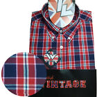 Warrior UK England Button Down Shirt RUDY Slim-Fit Skinhead Mod Retro