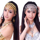 Women Belly Dance Accessories Costume Dancing Coin Sequins Hair Band Headband FM