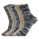 5Pairs Vintage Style Winter Thick Knit Warm Casual Wool Crew Socks Unisex Soft