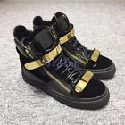 2019 Occident Stylish Mens/Womens Bling High Top Board Shoes Two Buckle Lace Up