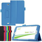 Leather Folio Skin Cover Case for Acer Iconia One B1 /Tab A1 A3 W1 7 8 10 Tablet