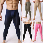 Men's See-through Long Johns Pants Tights Stretchy Underwear Sport Yoga Trousers