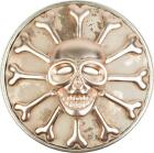 Skull magnet jewellery pendant with shimmer for scarves, shawls or ponchos, bro
