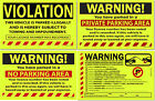 Внешний вид - Yellow Lot of 50, 25 or 10 Warning! Private No Parking Violation Towing Stickers