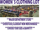 LOT OF WOMEN`S CLOTHES FROM TARGET DEPARTMENT STORE BY SIZE & QUANTITY MIX STYLE