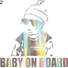 BG_ Colorful Laser Baby in Car Body Window Reflective Sticker Warning Sign Decal