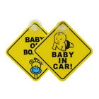 Внешний вид - EB_ Baby on Board Car Warning Safety Suction Cup Sticker Waterproof Notice Board
