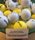PRACTICE GOLF DRIVING RANGE BASKET INCL 50 NEW SRIXON GOLF BALLS MAT NET TEES