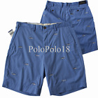 New Polo Ralph Lauren Stretch Embroidered Shorts 30 31 33 34 35 36 38 40 42
