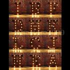 """12"""" LED Metal Marquee Letter Lights Vintage Alphabet Circus Style Light Up Sign"""