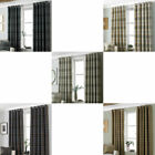 Riva Paoletti Aviemore Heritage Tartan Check Faux Wool Lined Eyelet Curtains